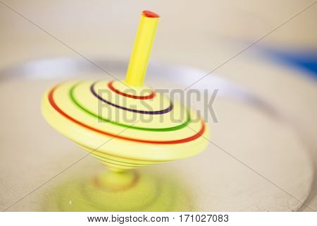 Gyroscope yellow in motion children's gyroscope yellow