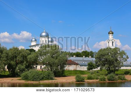 Zverin-pokrovsky Monastery In Novgorod