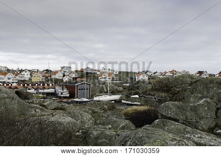 some house on a island on the swedish westcoast outside gotheburg