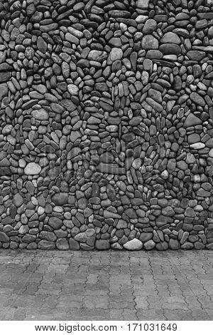 Image of black & white stones, Interior background