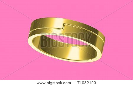The Beauty Wedding Ring(high Resolution 3D Image)