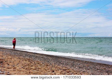 Photo taken at Lake Superior shore near Pictured Rocks