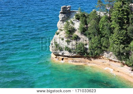 This photo was taken at Pictured Rocks National Lakeshore