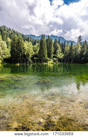 Lake Near Bar Chalet Laghetto - Madonna Di Campiglio Italy Europe