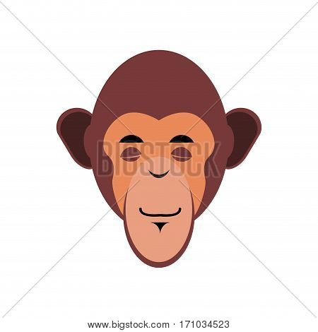 Monkey Sleeping Emoji. Marmoset Asleep Emotion Isolated. Chimpanzee Face