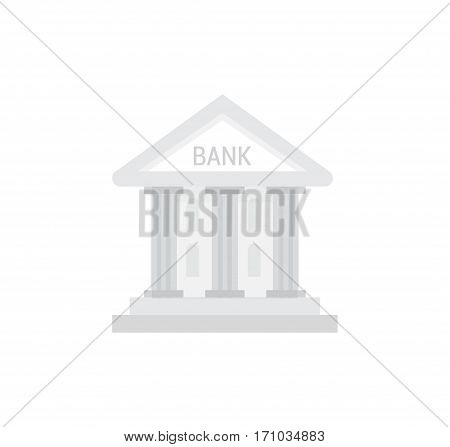 Bank vector isolated icon in flat style.