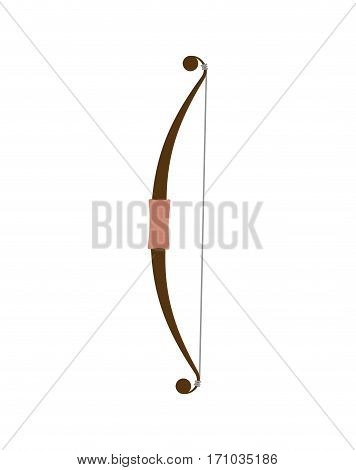 Bow Weapon Isolated. Arms Firing Arrows On White Background