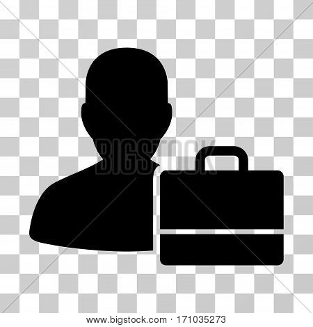 Accounter icon. Vector illustration style is flat iconic symbol black color transparent background. Designed for web and software interfaces.