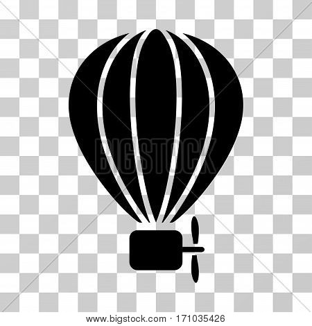 Aerostat Balloon icon. Vector illustration style is flat iconic symbol black color transparent background. Designed for web and software interfaces.
