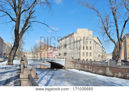Russian Federation. St. Petersburg in a spring sunny spring day