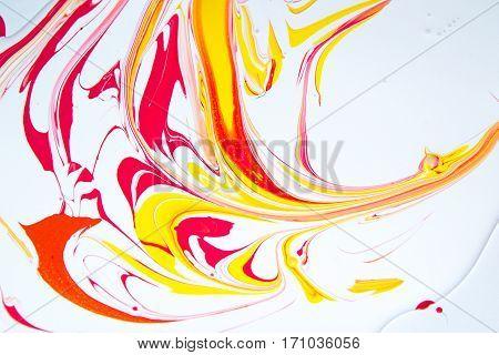 Smeared paint, paint spots, mixing, latex paint, paint drops,  stains