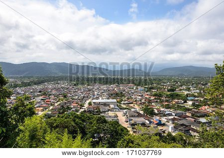 Aerial View Of The City Of Guaruja From Morro Sorocotuba