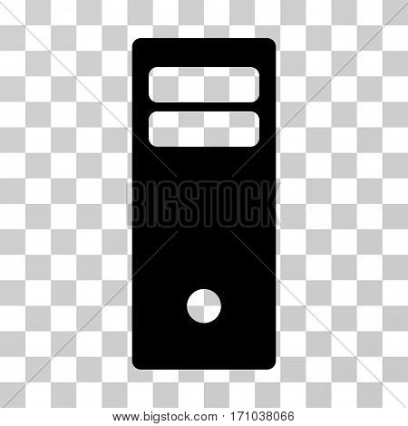 Computer Mainframe icon. Vector illustration style is flat iconic symbol black color transparent background. Designed for web and software interfaces.
