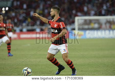 Rio Brazil - february 12 2017: Mancuello during Botafogo X Flamengo held at the Nilton Santos Stadium for the 4th round of the Carioca championship (Guanabara Cup)