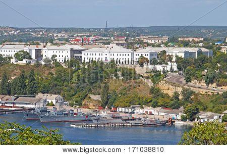 Balaklava harbour in Sevastopol, Ukraine in the summer