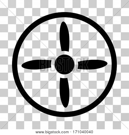 Drone Screw icon. Vector illustration style is flat iconic symbol black color transparent background. Designed for web and software interfaces.