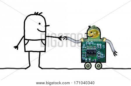 Cartoon robots - Help on wheels