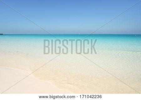 Beach at Playa Pilar in Cayo Guillermo Cuba