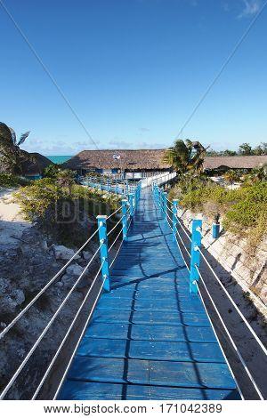 Boardwalk to beach at Cayo Guillermo Cuba