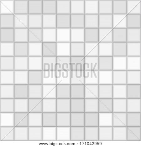 Color Grey Mosaic Tile Square Vector Background. Halftone Fone. Vector illustration for Web Design.