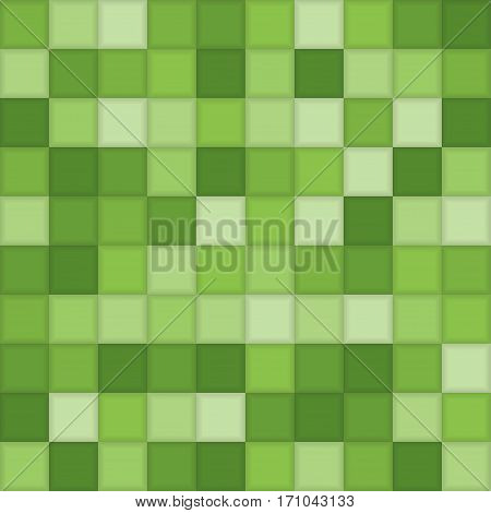 Color Green Mosaic Tile Square Vector Background. Halftone Fone. Vector illustration for Web Design.