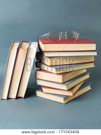 Bunch Of Books And Reading Glasses