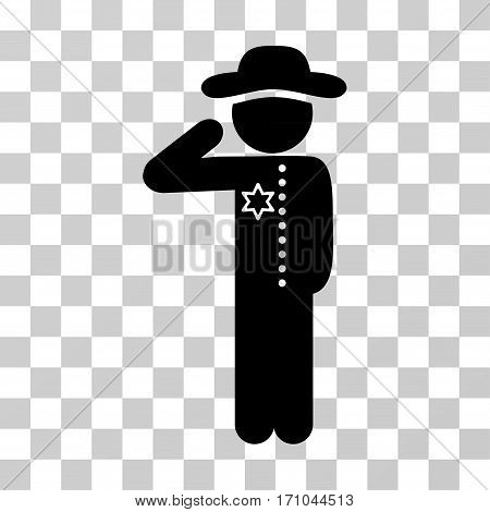 Gentleman Officer icon. Vector illustration style is flat iconic symbol black color transparent background. Designed for web and software interfaces.