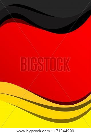 Vector abstract german flag background, flat shapes
