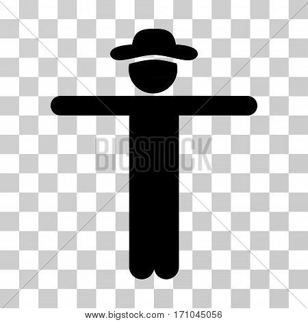 Gentleman Scarescrow icon. Vector illustration style is flat iconic symbol black color transparent background. Designed for web and software interfaces.