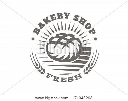 Bread logo - vector illustration, emblem design on white background