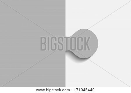 Grey Piece Puzzle Round Infographic Presentation. 2 Step Business Diagram. Two Section Compare Service Banner. Vector Illustration Template Shape . Abstract Background.