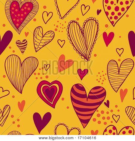 Bright romantic seamless pattern