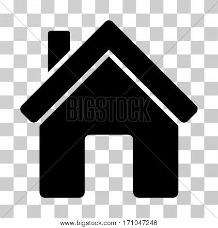 House icon. Vector illustration style is flat iconic symbol black color transparent background. Designed for web and software interfaces.