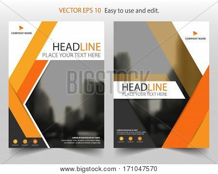Orange abstract Vector Brochure annual report Leaflet Flyer template design book cover layout design abstract business presentation template a4 size design