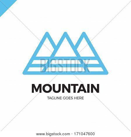 Line Mountain Letter M Logo. Fashion Logotype.