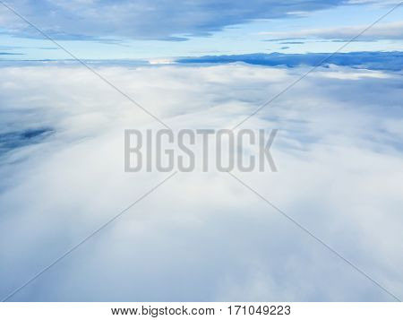 Cloudscape. Blue sky and white cloud. Sunny day. Cumulus cloud