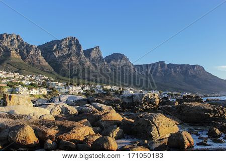 Twelve Apostles Mountain in Cape Town, South Africa