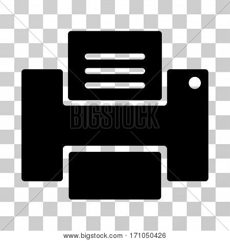 Printer icon. Vector illustration style is flat iconic symbol black color transparent background. Designed for web and software interfaces.