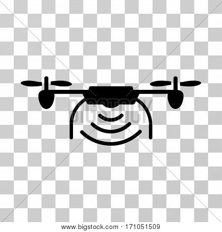 Radio Transmitter Airdrone icon. Vector illustration style is flat iconic symbol black color transparent background. Designed for web and software interfaces.