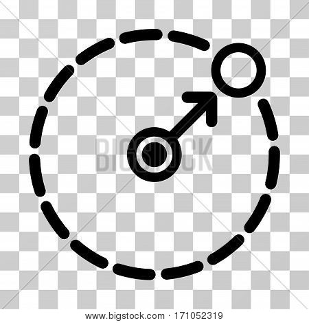 Round Area Border icon. Vector illustration style is flat iconic symbol black color transparent background. Designed for web and software interfaces.