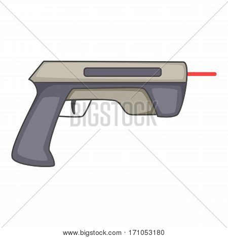 Laser beam pistol icon. Cartoon illustration of laser beam pistol vector icon for web