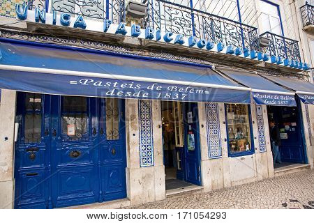 Home of the famous Pasteis of Belem. Well renown in the region. Photo taken April 2009.
