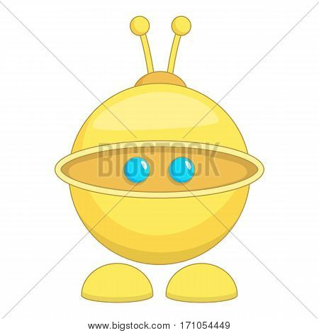 Cute robot toy icon. Cartoon illustration of cute robot toy vector icon for web