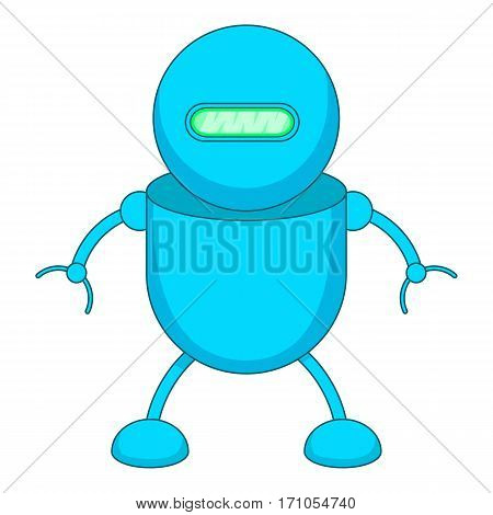 Robotic toy icon. Cartoon illustration of robotic toy vector icon for web