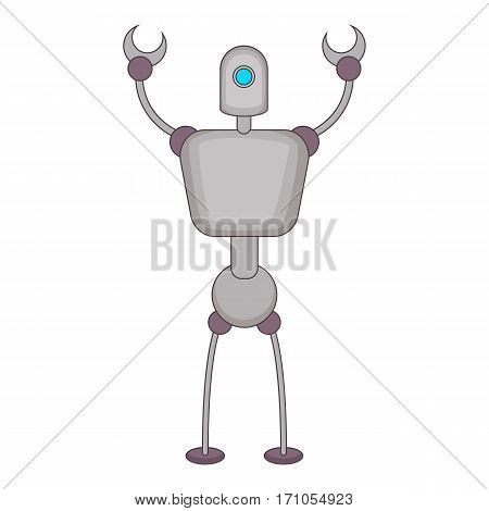 Abstract robot icon. Cartoon illustration of abstract robot vector icon for web