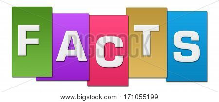 Facts text alphabets written over colorful background.