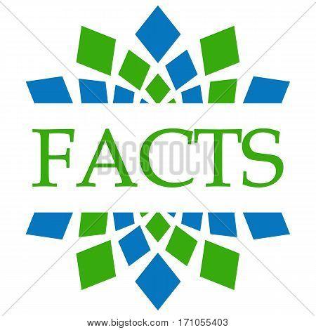 Facts text written over green blue circular background.