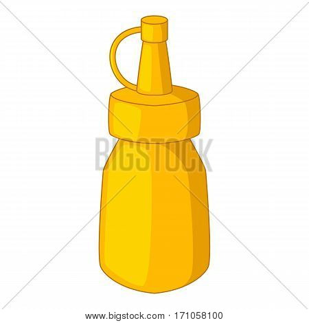 Bottle of mustard icon. Cartoon illustration of bottle of mustard vector icon for web