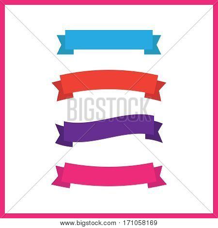 Cartoon banners and comic ribbons vector set. Colored banner ribbon