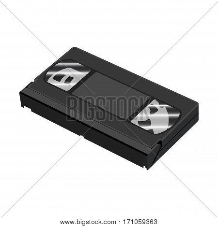 Isolated Vhs Cassette